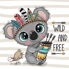 wild and free - dotz box 15x15cm dbx.026