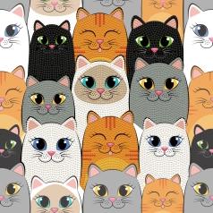 cat clan - dotz box 28x28cm dbx.020
