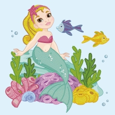 little mermaid - dotz box 28x28cm dbx.016