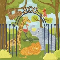 dotz at the zoo - dotz box 28x28cm dbx.025