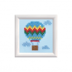 up up and away with frame white - diamond dotz starter dds.013f 7,6x7,6cm