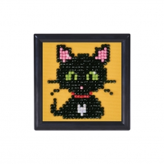green eye sparkle with frame black - diamond dotz starter dds.019f 7,6x7,6cm