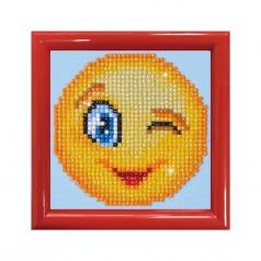 wink wink with frame red - diamond dotz beginner dd1.005f 10,2x10,2cm