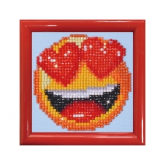 smitten with frame red - diamond dotz beginner dd1.006f 10,2x10,2cm