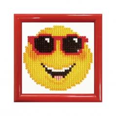 smilig face with frame red - diamond dotz beginner dd1.009f 10,2x10,2cm