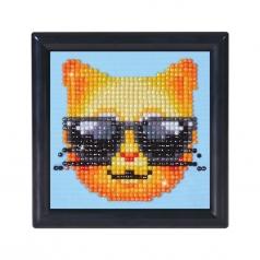 kool kat with frame black - diamond dotz beginner dd1.010f 10,2x10,2cm