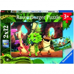 gigantosaurus - puzzle 2x12 pezzi