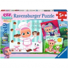 cry babies - puzzle 3x49 pezzi