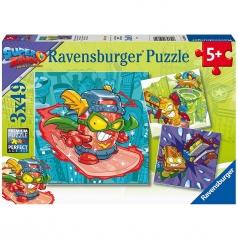 super zings rivals of kaboom - puzzle 3x49 pezzi