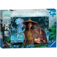 raya, tuk tuk e sisu - puzzle 200 pezzi xxl