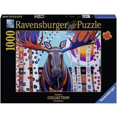 winter moose - puzzle 1000 pezzi