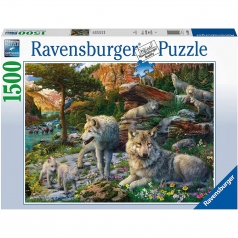 lupi in primavera - puzzle 1500 pezzi