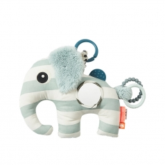 gioco multisensoriale con massaggiagengive elefante elphee, celeste - dalla nascita