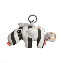 gioco multisensoriale con massaggiagengive zebra zebee, nero - dalla nascita