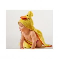 asciugamano baby con cappuccio, puddles l'anatroccolo - 100% cotone