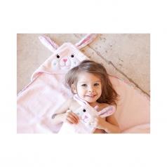 asciugamano baby con cappuccio, beatrice la coniglietta - 100% cotone