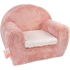 poltrona pauline & sasha in peluche rosa