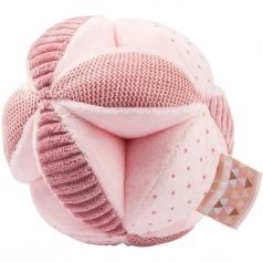 palla attivita con sonaglio lapidou in peluche rosa