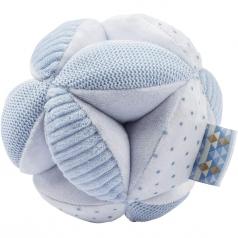 palla attivita con sonaglio lapidou in peluche azzurra