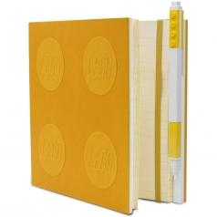 notebook quaderno con 1 penna - colore giallo