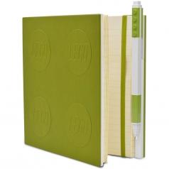 notebook quaderno con 1 penna - colore lime