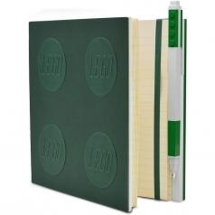 notebook quaderno con 1 penna - colore verde