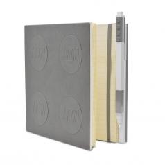 notebook quaderno con 1 penna - colore grigio