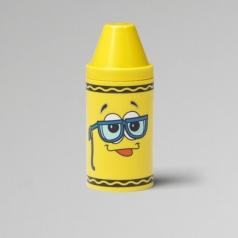 tip mini storage giallo - set con 6 pastelli a cera e rotolino di carta