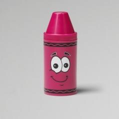 tip mini storage rosa - set con 6 pastelli a cera e rotolino di carta