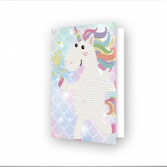 biglietto d'auguri - diamond dotz unicorn wish