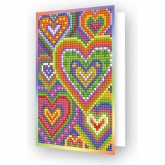 biglietto d'auguri - diamond dotz heart mosaic