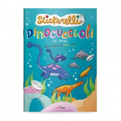 dinocuccioli del mare. stickerelli. con adesivi
