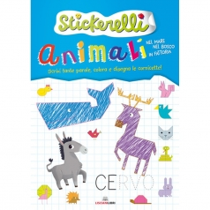 animali nel mare, nel bosco e in fattoria. stickerelli. con adesivi. ediz. a colori