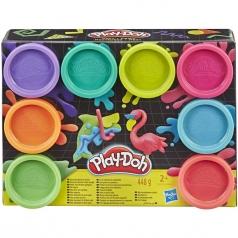 play-doh - set da 8 vasetti colorati