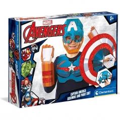 marvel captain america - costume da colorare e costruire