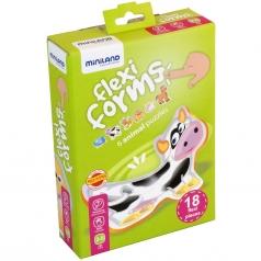 flexi forms - puzzle morbido 6 animali
