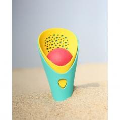 cuppi - doppio cono blu con pallina rossa per scavare in spiaggia