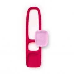 scoppi - pala con setaccio rosso ciliegia e rosa