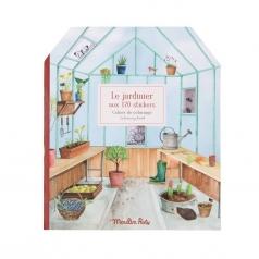 album da colorare con adesivi il giardiniere
