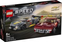 76903 - chevrolet corvette c8.r race car and 1968 chevrolet corvette