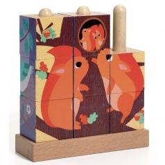 foresta - puzzle cubi verticale