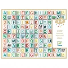 alfabeto adesivo in rilievo
