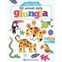 gli animali della giungla. con adesivi. ediz. a colori