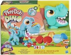play-doh dino crew - crunchin' t-rex con 3 colori