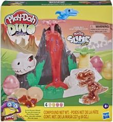 play-doh slime dino crew - lava bones island con slime 4 colori
