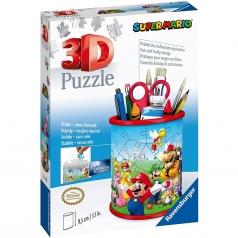 portapenne supermario - puzzle 3d