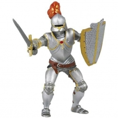 knight in armour with red feather