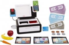first self checkout stand - prima cassa automatica con 15 accessori