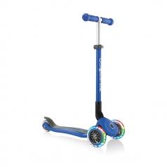globber primo foldable lights - monopattino a tre ruote pieghevole - sky blue