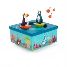 carillon - scatola musicale in legno dans la jungle